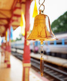 The bell is at the station Hua Hin in Thailand. Royalty Free Stock Photography