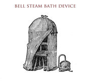 Bell steam bath device,vintage illustration Royalty Free Stock Photo
