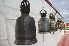 Bell sul tempiale di Wat Saket Fotografie Stock Libere da Diritti