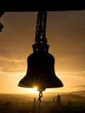 Bell in the Sunset Stock Image