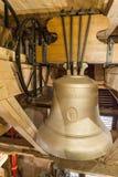 Bell sur la tour de la cathédrale du ` s de St Bartholomew, Plzen image libre de droits