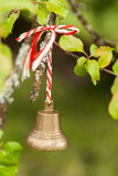 Bell sur le crabapple Image stock