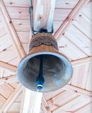 Bell. Suspended bell on the belfry of the church Royalty Free Stock Images