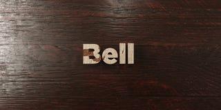 Bell - título de madera sucio en arce - 3D rindió imagen común libre de los derechos Imagen de archivo libre de regalías
