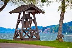 Bell tegernsee jeziorem w Rottach Egern Fotografia Stock