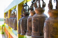 Bell in the temple at Kanchanaburi royalty free stock photo