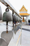 Bell in the temple. Sound in the temple Royalty Free Stock Images