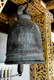 Bell in a temple in Thailand Royalty Free Stock Images