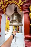 Bell of the temple Wat Phra That Haripunchai in Lamphun Stock Images