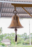 Bell. To signal the train station Royalty Free Stock Image
