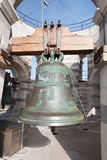 Bell at the top of Pisa Tower Stock Photo