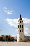 Bell Tower. Cathedral Place with belfry in Vilnius - capital of Vilnius Royalty Free Stock Photography