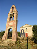 Bell tower. Of the greek church Stock Images