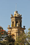 Bell tower, 16th century colonial Mexican Church Stock Image