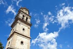 Bell Tower. Of St. Nikolaos Church, Kiliomeno, Zakynthos, Ionian Islands, Greece Royalty Free Stock Photos