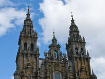 Bell tower. Of the cathedral of Santiago Stock Photo