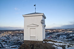 The bell tower. On the fortress in Halden. The purpose of  was to warn in case of fire or a surprise attack Royalty Free Stock Photos