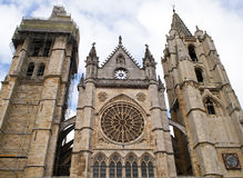 Bell Tower. Of the cathedral of Leon Royalty Free Stock Photo