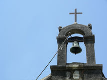Bell tower. Of St. Jerome's chapel at Arboretum, Trsteno, Croatia royalty free stock images
