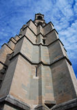 Bell tower. From Lausannes gothic chapel agains a cloudy sky Stock Photography