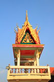 Bell tower. Is one category of the Thai architectural structure in a temple for signaling the monks to do their praying ceremony stock images