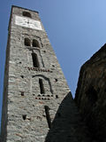 Bell Tower. Old Romanesque bell tower in Italy Royalty Free Stock Image
