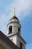 Bell-tower. Of russian orthodox church. Moscow, Russia. Classical architecture style stock image