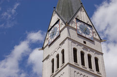 Bell Tower. On of the two bell towers of the Dom of Eichstätt, Germany Royalty Free Stock Image