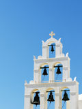 Bell Tower. A bell tower face to aegean sea Stock Photo