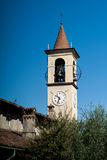 Bell Tower in Abbadia Lariana Stock Images