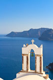 Bell tower above the sea in Santorini Stock Photography