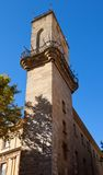 Bell tower (1510) of Aix-en-Provence, France. Bell tower (Belfry, circa 1510) of Town hall (Hotel de Ville). Aix-en-Provence, France Royalty Free Stock Image