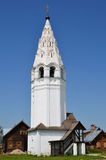 Bell tower in Aleksandrovsky monastery in Suzdal. Golden ring of Russia Royalty Free Stock Image