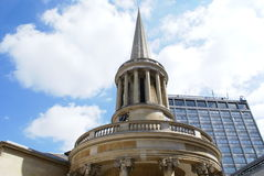 The bell tower of All Souls Church in London, England Royalty Free Stock Photo