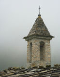 Bell-tower in the Alps stock photo