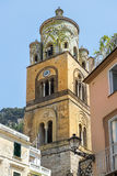 Bell tower of Amalfi Cathedral, Amalfi, Italy Royalty Free Stock Photos