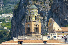 Bell tower of Amalfi Cathedral, Amalfi, Italy Royalty Free Stock Image