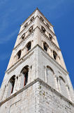 Bell tower of the Anastasia cathedral in Zadar, Croatia Stock Images