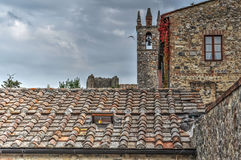 Bell tower and ancient buildings Royalty Free Stock Photography