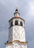Bell tower of ancient Russian church in Totma Royalty Free Stock Images