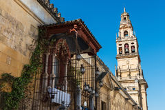 Bell Tower And Outer Wall Of The Mosque Cathedra, Cordoba Stock Photography