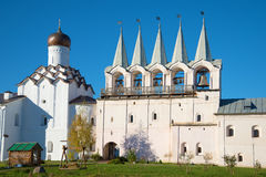Free Bell Tower And The Intercession Church Of The Tikhvin Assumption Monastery Closeup. Tikhvin, Russia Stock Images - 84147004