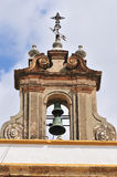 Bell-tower from the Antigua fábrica de tabacos Royalty Free Stock Photo