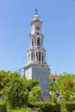 The bell tower of Argalasti village, Pelio, Greece Royalty Free Stock Photo