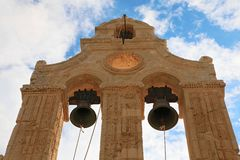 Bell tower of Arkadi's Monastery Stock Images