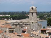 Bell tower in Arles Stock Photos