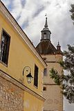 Bell Tower of the Armenian church in Kamianets-Podilskyi, Ukraine Royalty Free Stock Photos