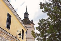 Bell Tower of the Armenian church in Kamianets-Podilskyi, Ukraine Royalty Free Stock Images