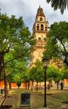 The Bell tower as seen from Los Naranjos Patio Stock Photo
