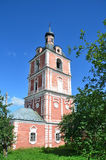 Bell tower in Assumption (Uapensky) Goritsky monastery in Pereslavl Zalesskiy, Golden ring of Russia Royalty Free Stock Photography